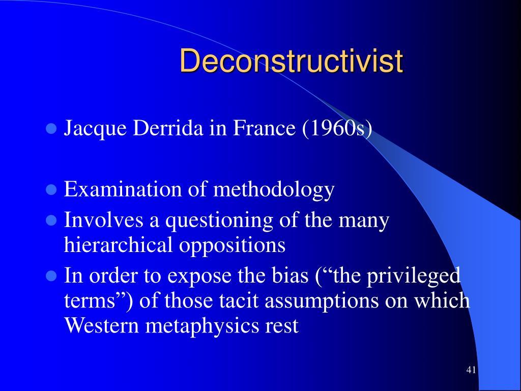 Deconstructivist