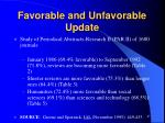 favorable and unfavorable update