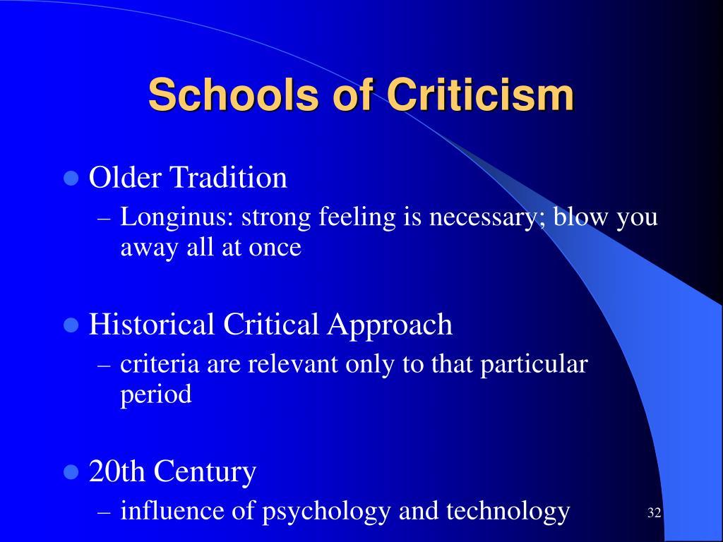 Schools of Criticism