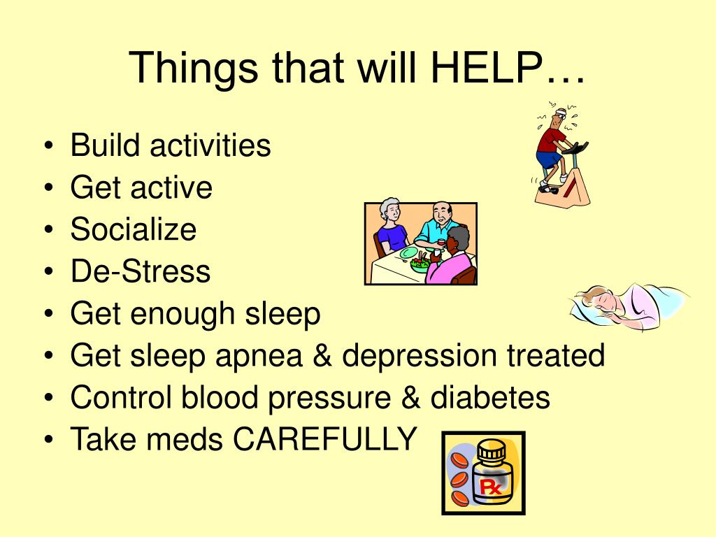Things that will HELP…