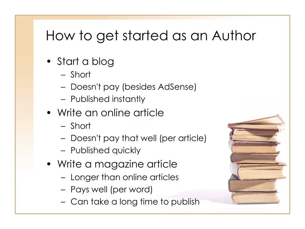 How to get started as an Author