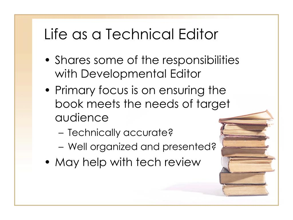 Life as a Technical Editor