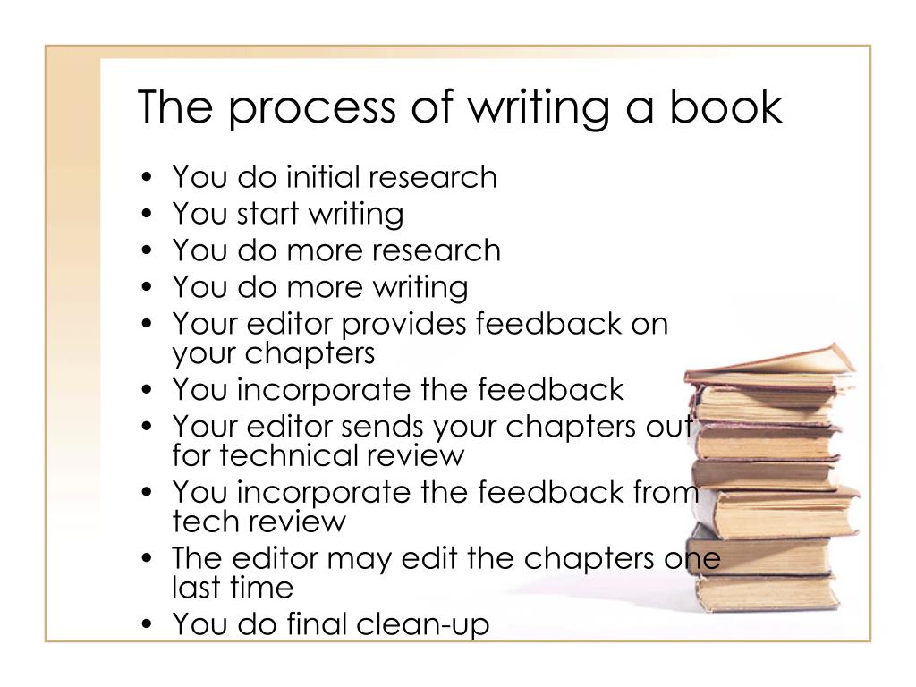 The process of writing a book