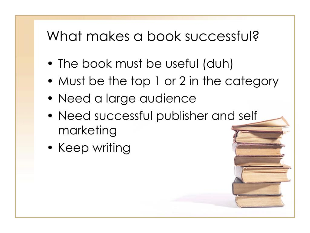 What makes a book successful?