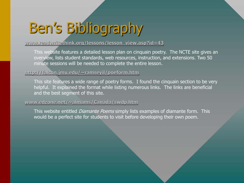Ben's Bibliography