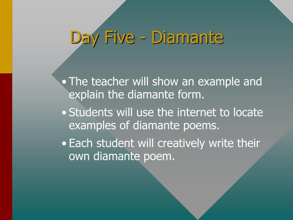 Day Five - Diamante