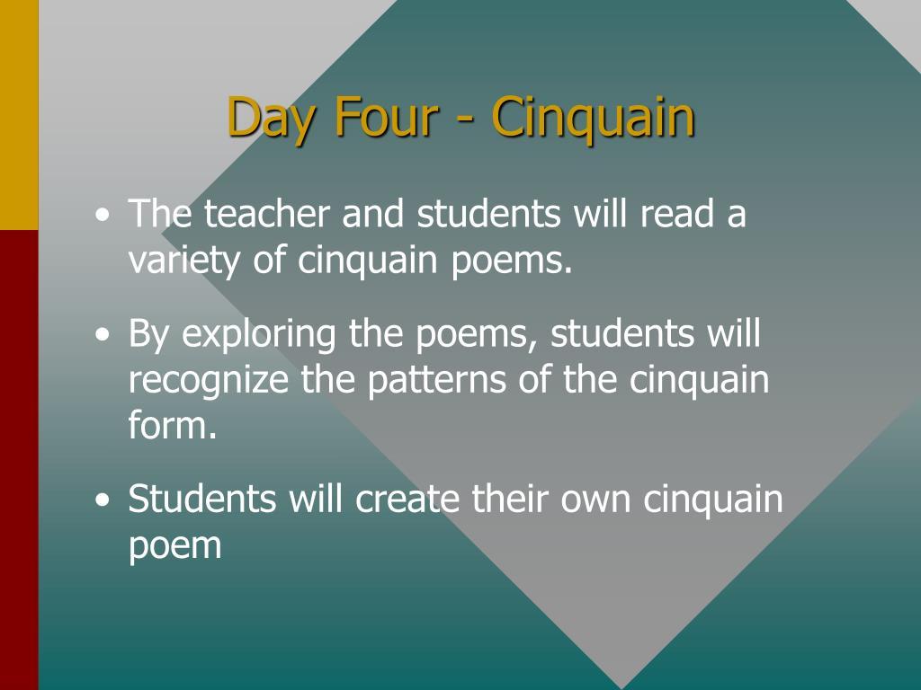 Day Four - Cinquain
