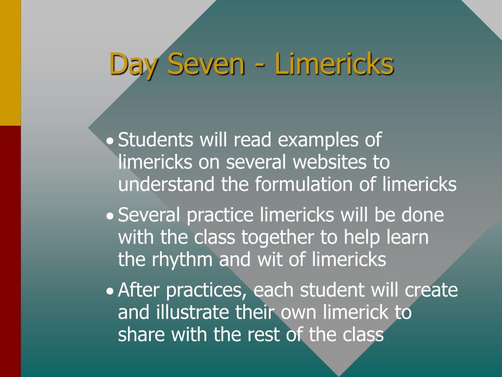 Day Seven - Limericks