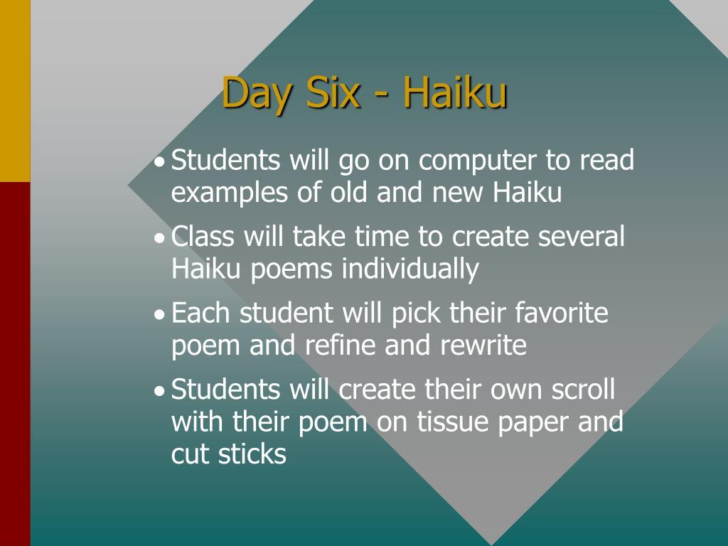 Day Six - Haiku