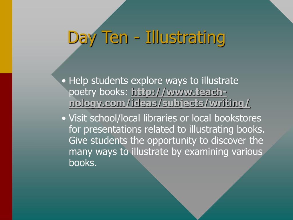 Day Ten - Illustrating