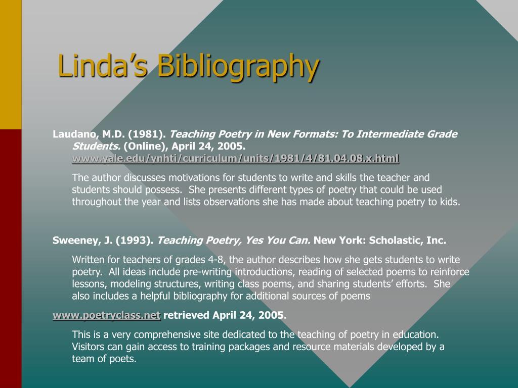 Linda's Bibliography