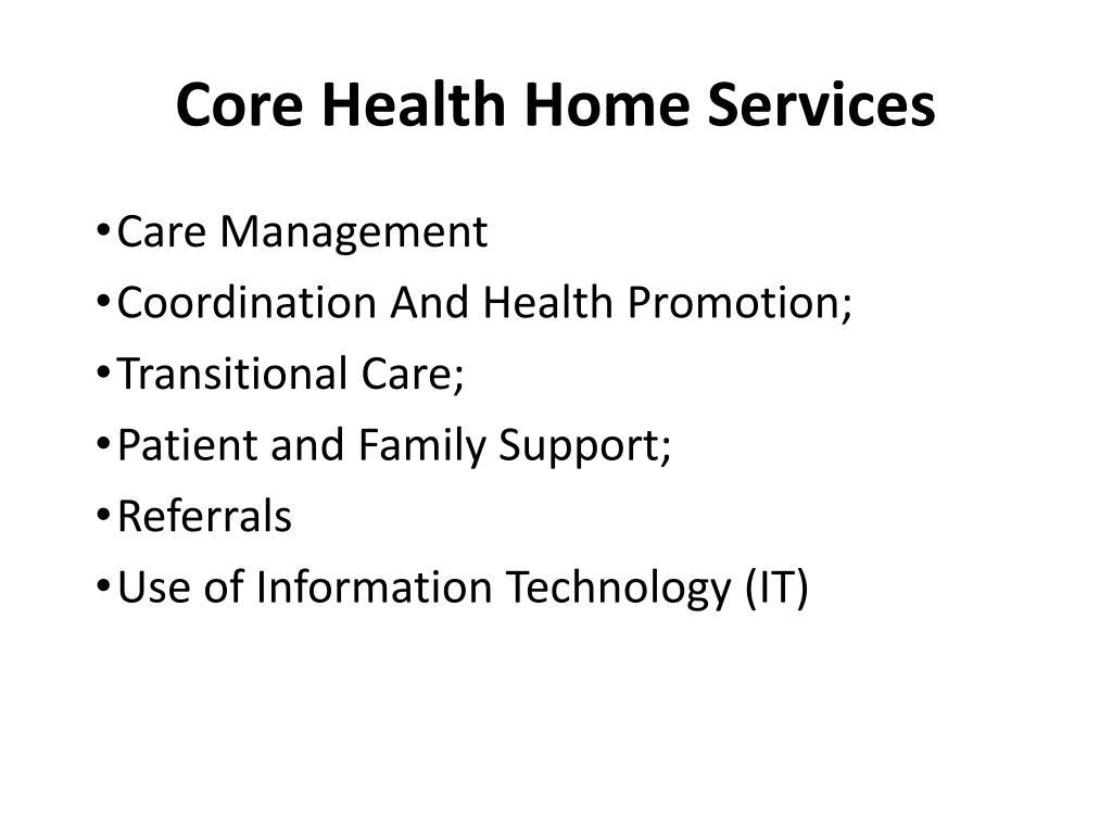 Core Health Home Services