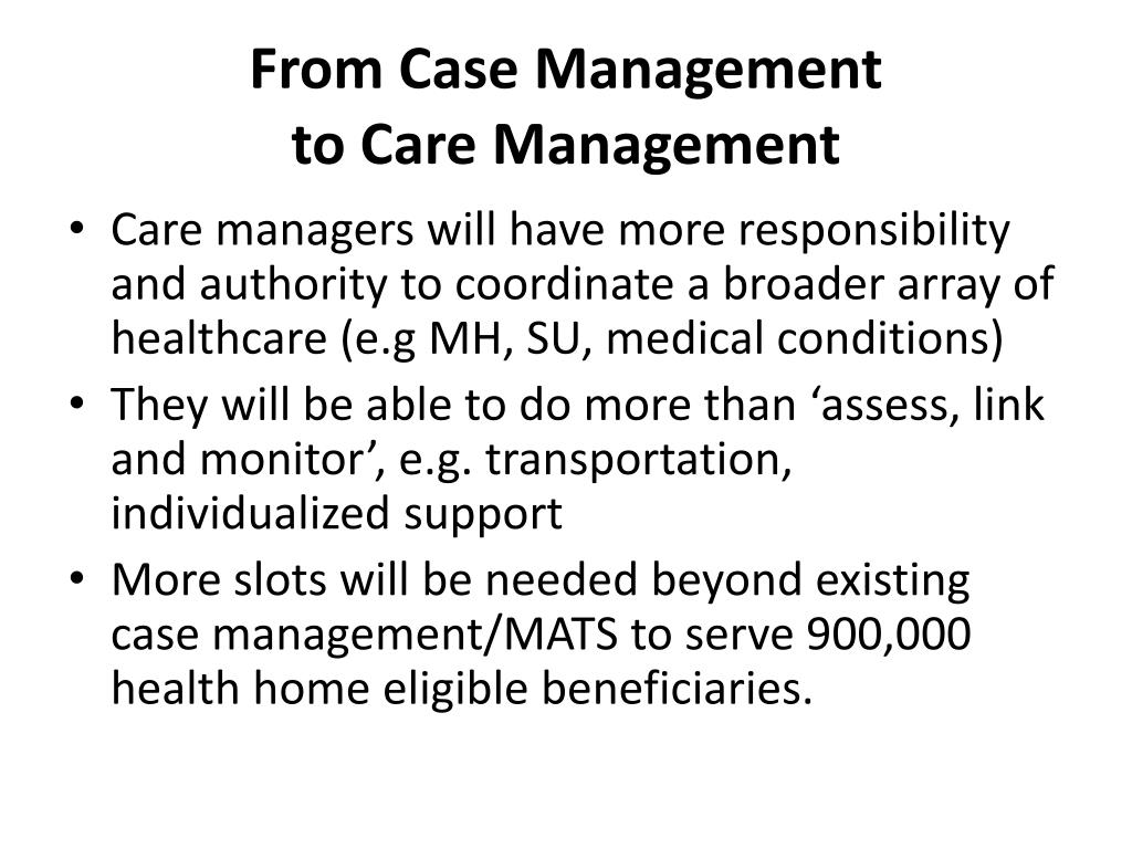 From Case Management