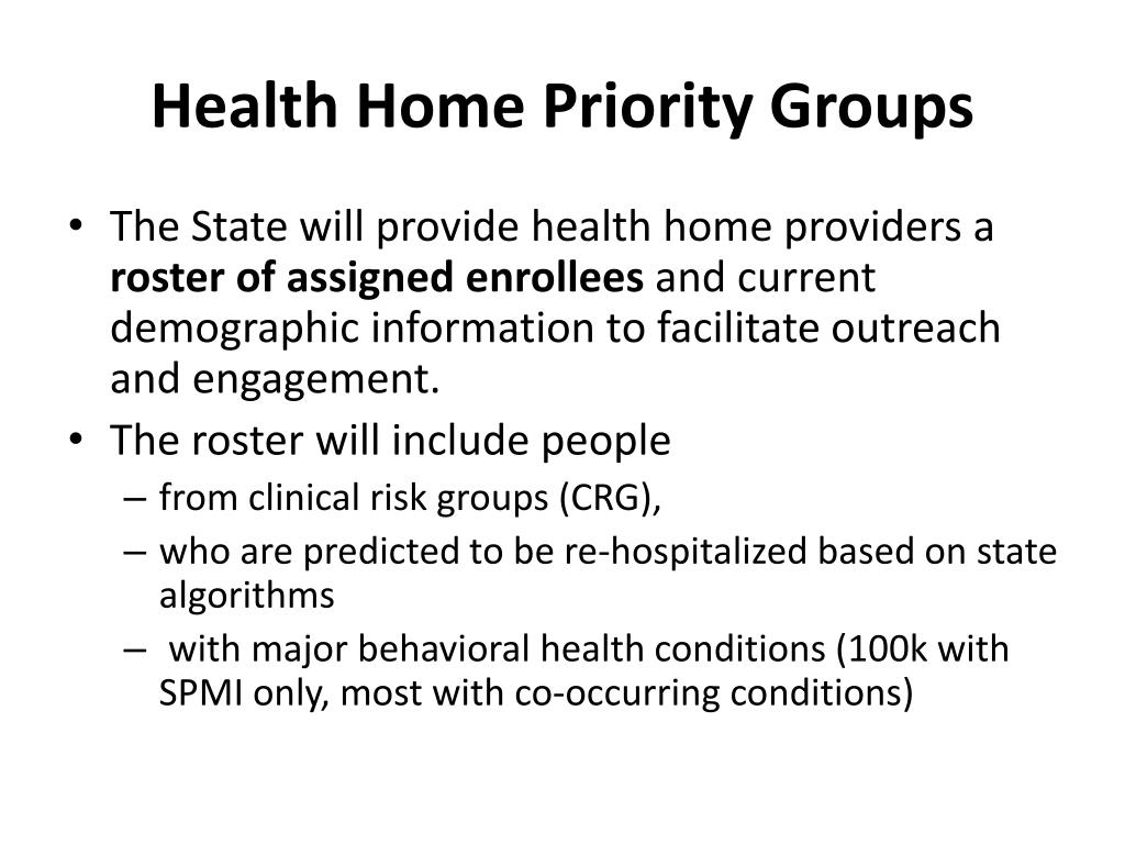 Health Home Priority