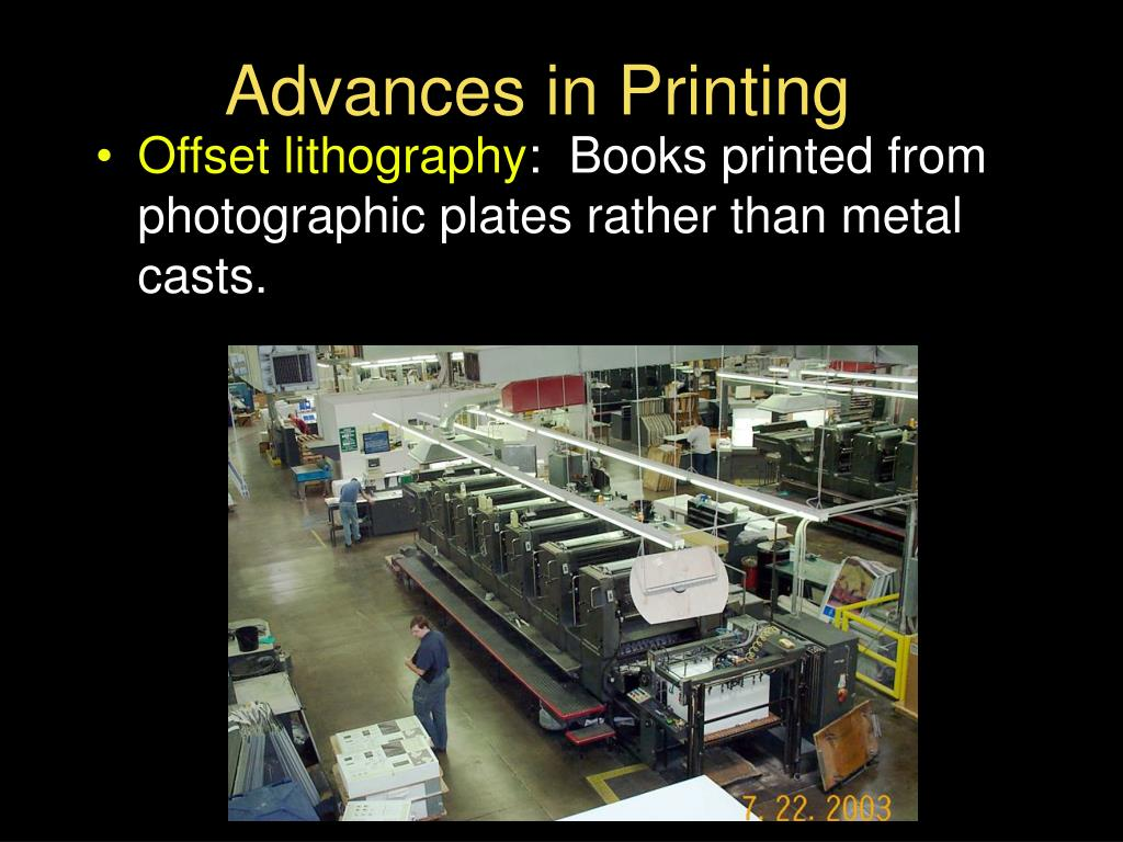 Advances in Printing