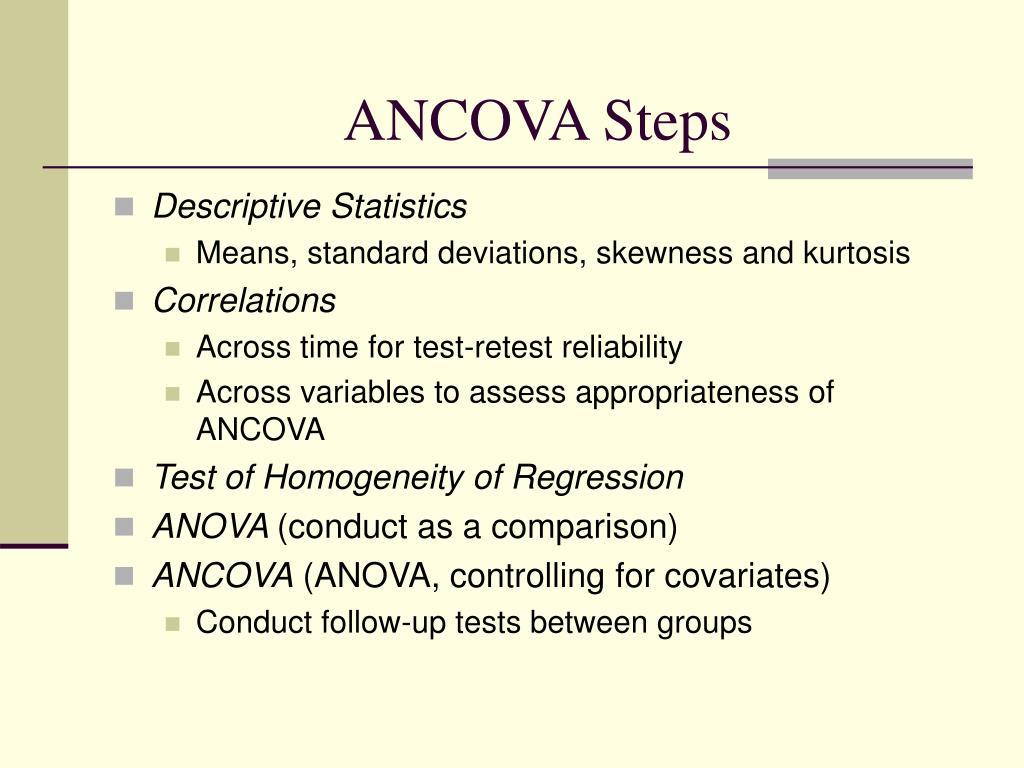 ANCOVA Steps
