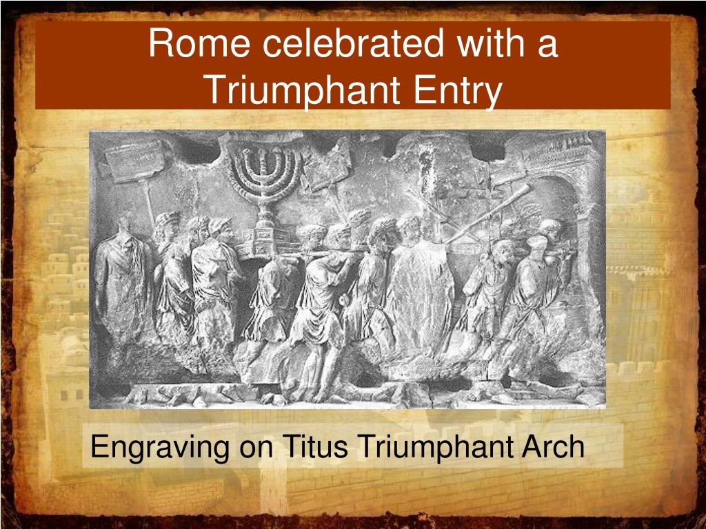 Rome celebrated with a Triumphant Entry