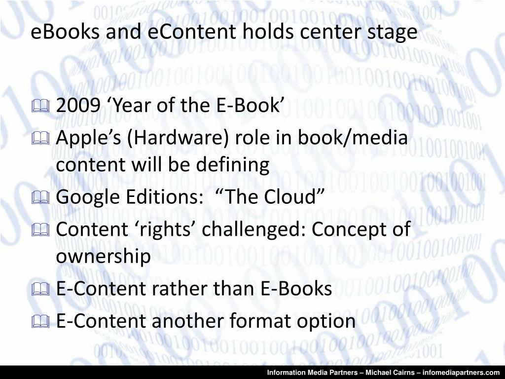 eBooks and eContent holds center stage