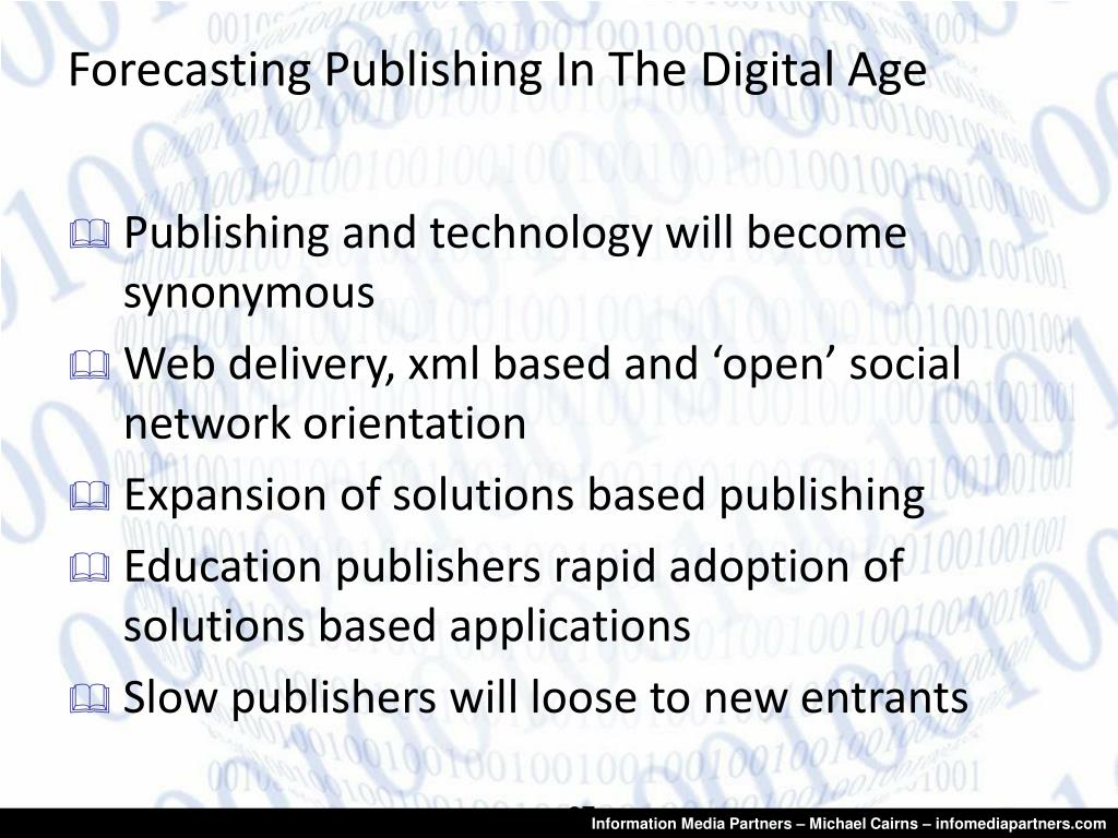 Forecasting Publishing In The Digital Age