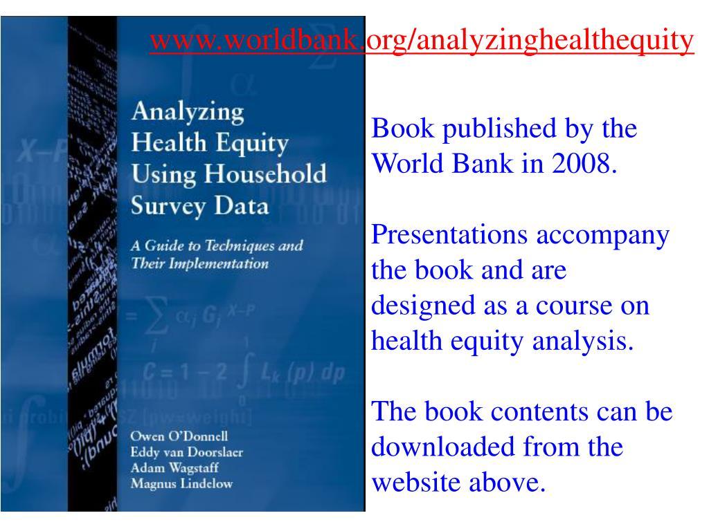 www.worldbank.org/analyzinghealthequity