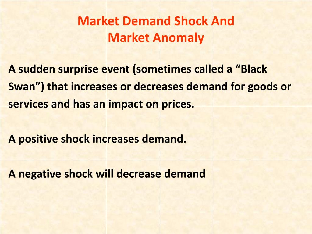 Market Demand Shock And