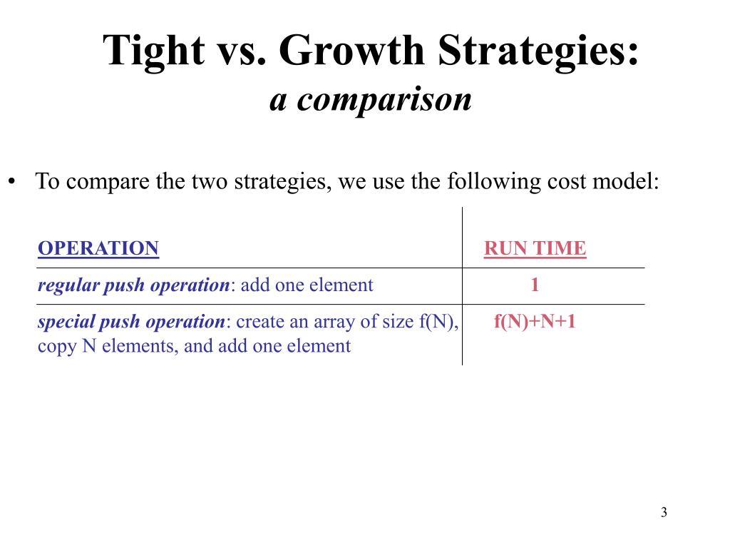 Tight vs. Growth Strategies: