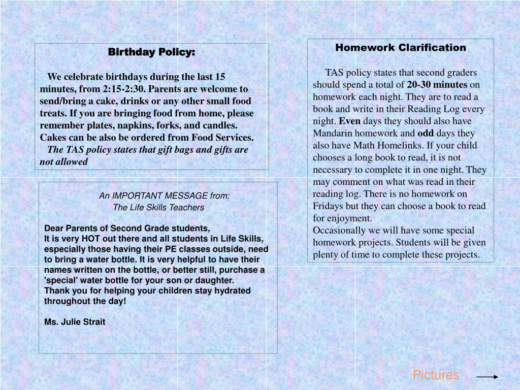 Homework Clarification