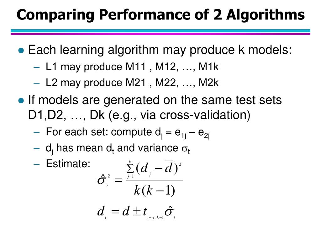 Comparing Performance of 2 Algorithms