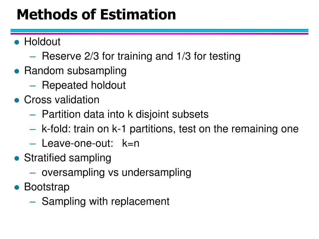 Methods of Estimation