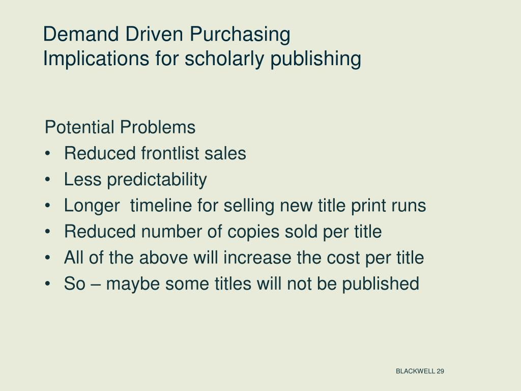 Demand Driven Purchasing