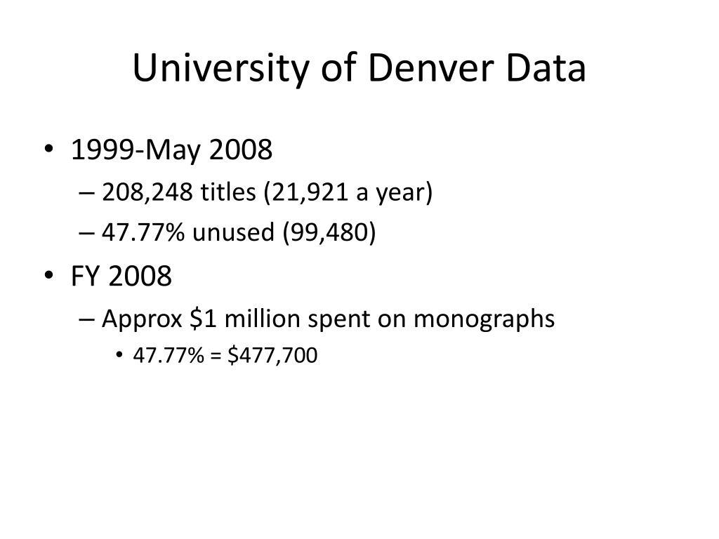 University of Denver Data