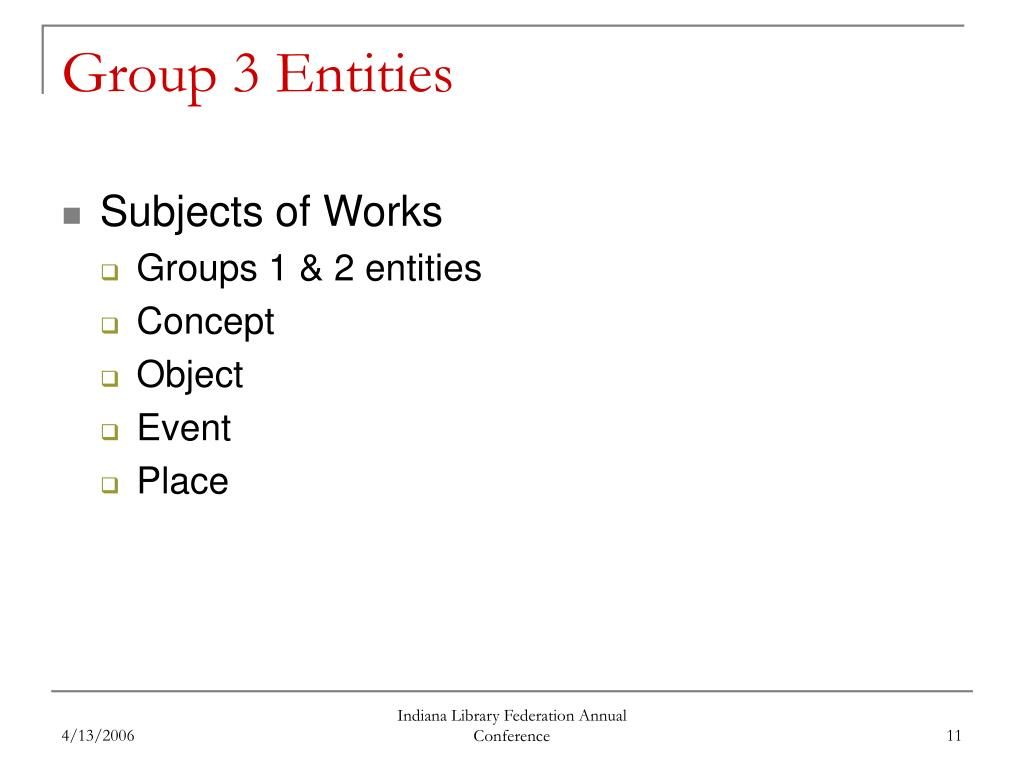Group 3 Entities