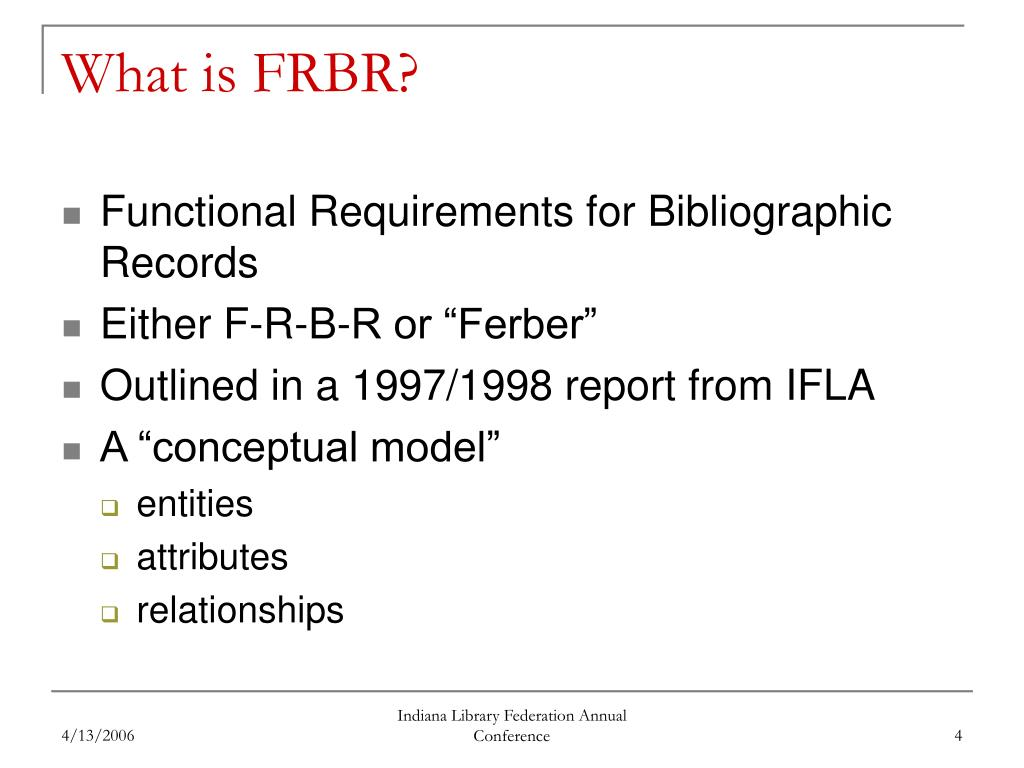 What is FRBR?