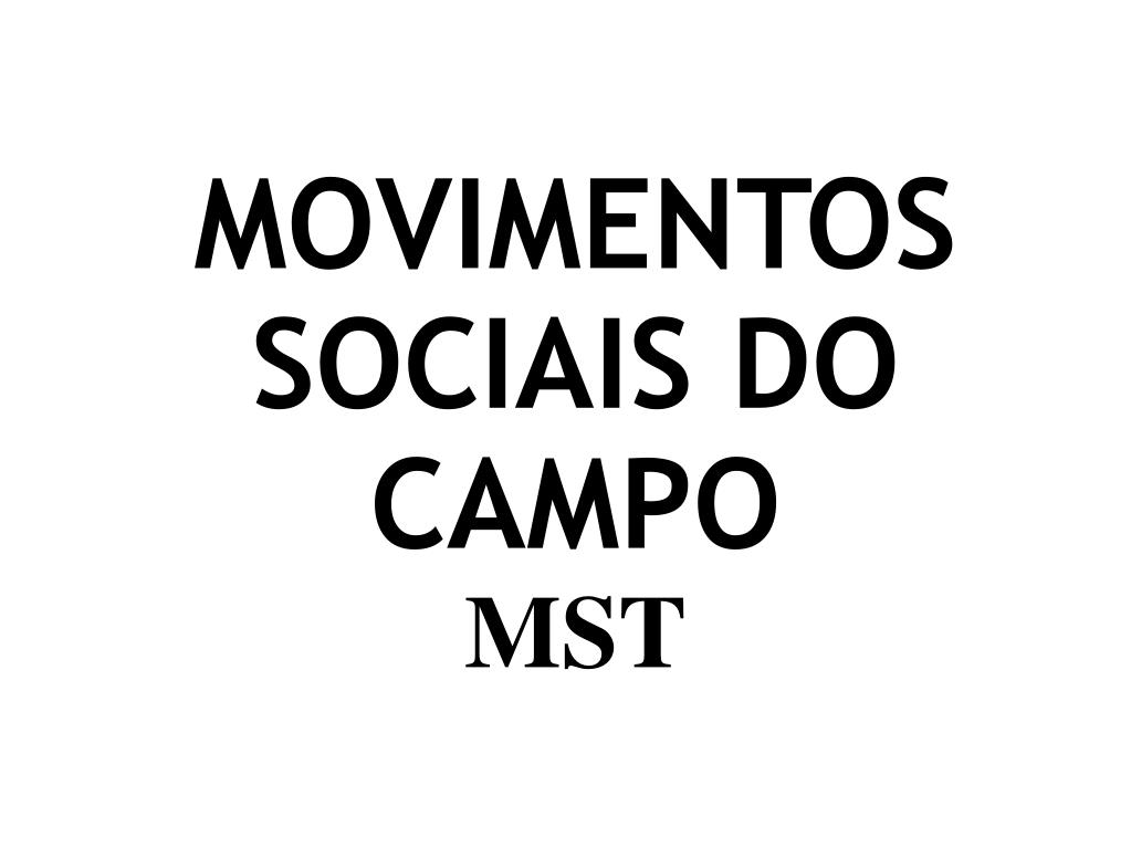MOVIMENTOS SOCIAIS DO CAMPO
