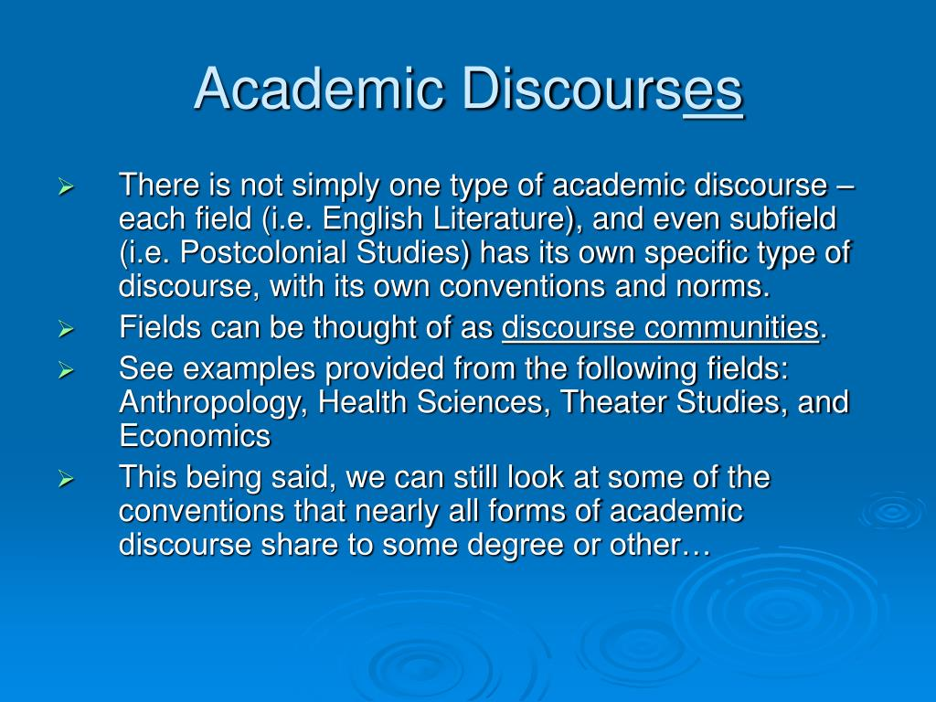Academic Discours