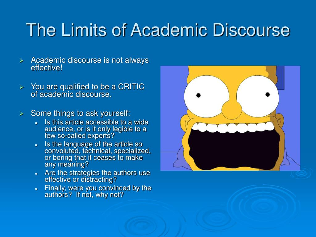 The Limits of Academic Discourse