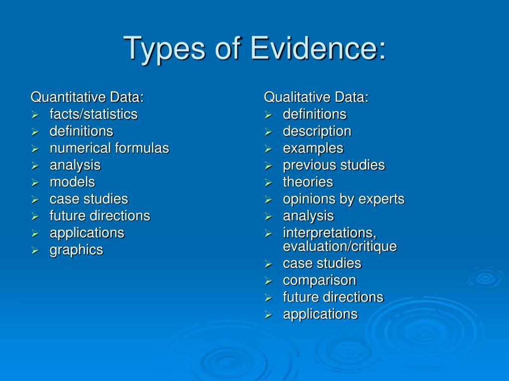 Quantitative Data: