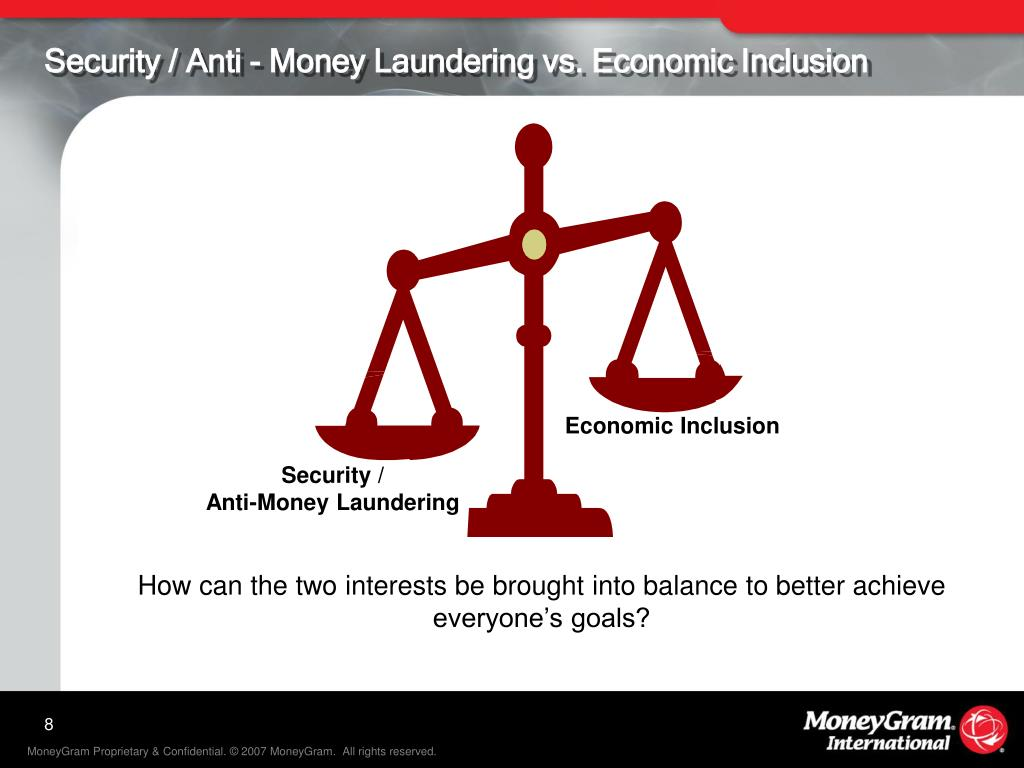 Security / Anti - Money Laundering vs. Economic Inclusion