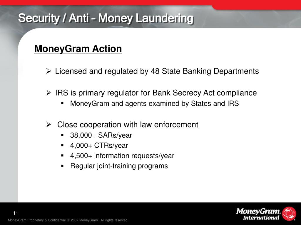 Security / Anti – Money Laundering