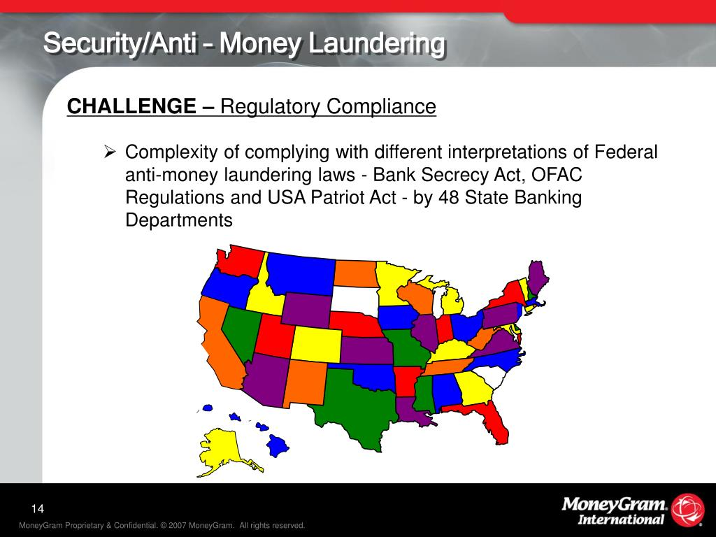 Security/Anti – Money Laundering