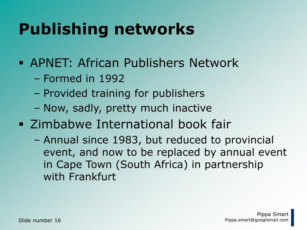 Publishing networks