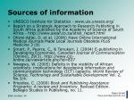 sources of information34