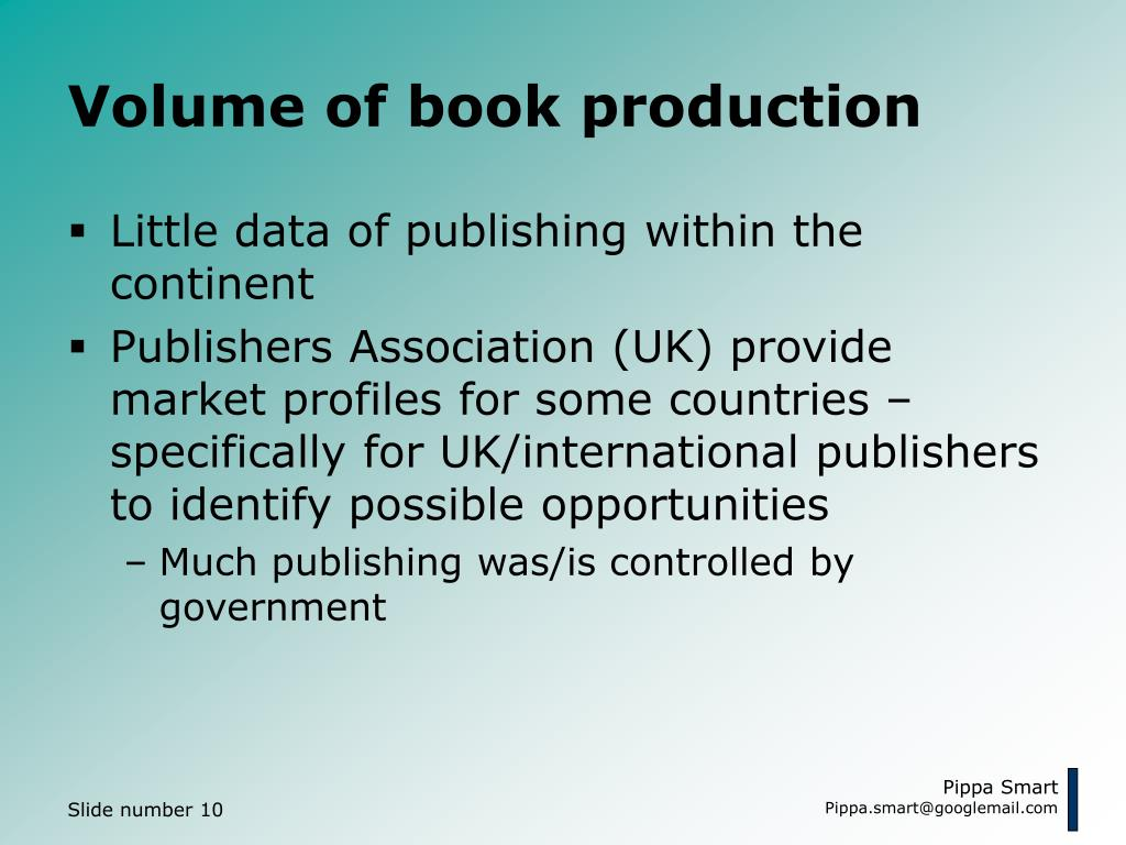 Volume of book production