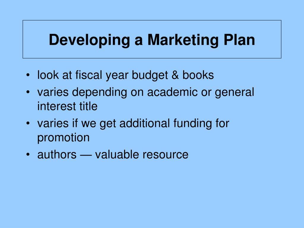Developing a Marketing Plan