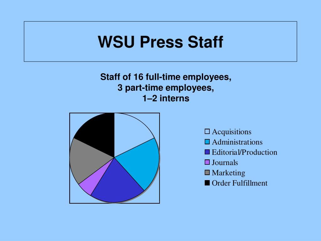 WSU Press Staff