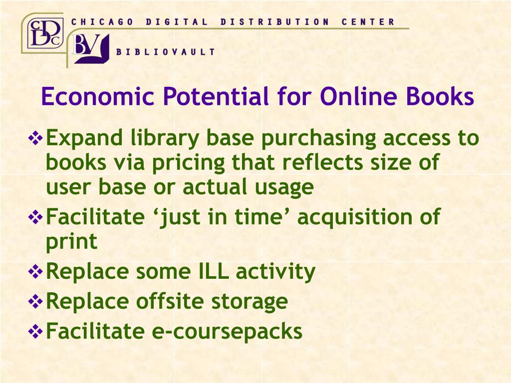 Economic Potential for Online Books