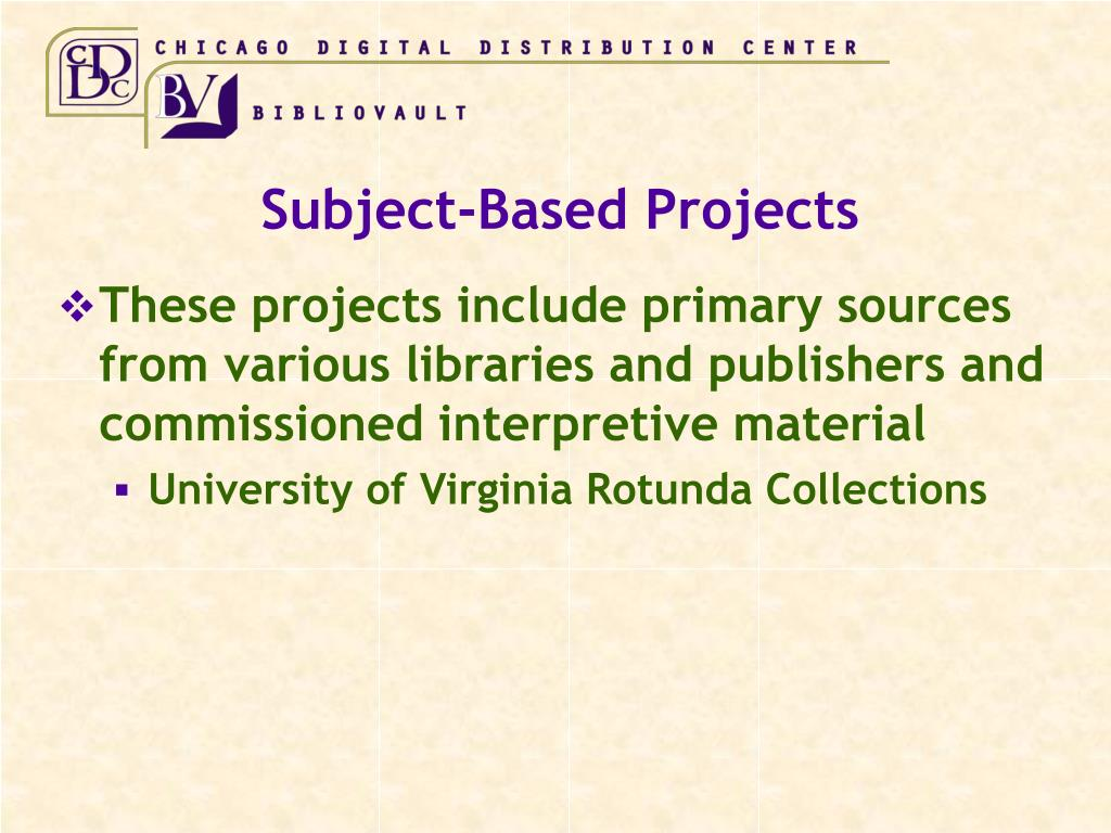 Subject-Based Projects