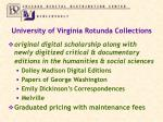 university of virginia rotunda collections