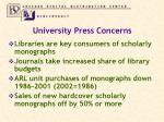 university press concerns