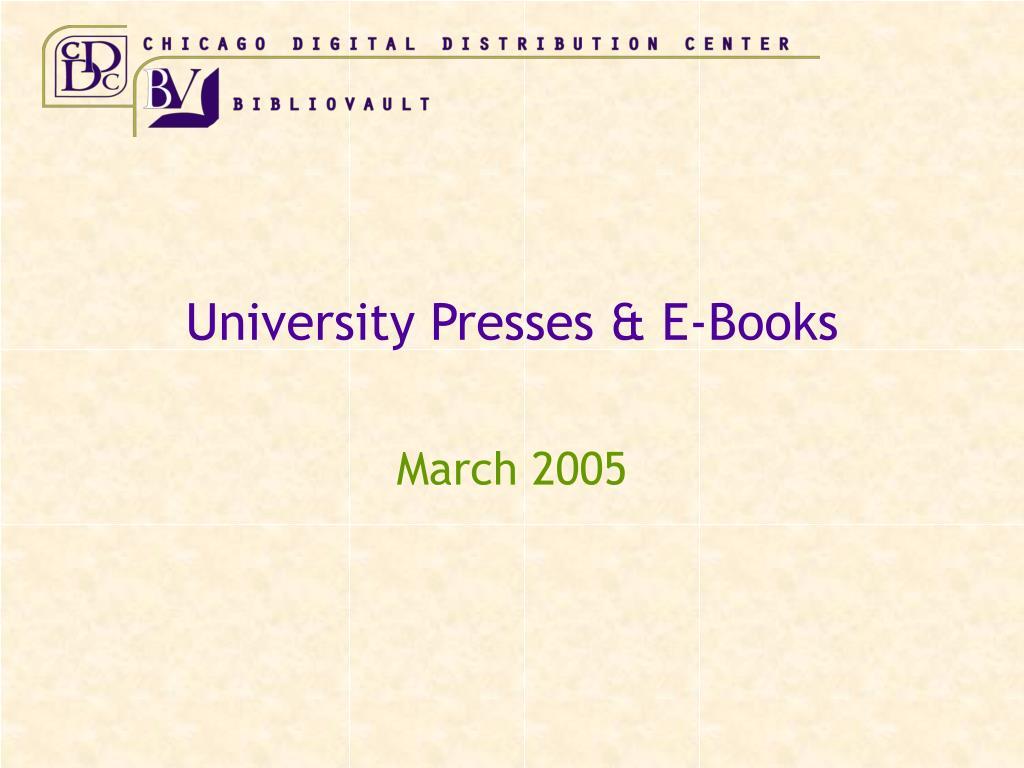 university presses e books
